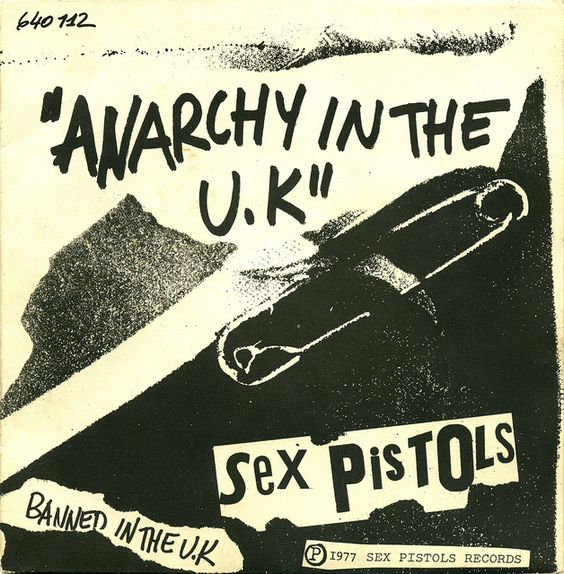 Anarchy in the UK Record Cover Sleeve