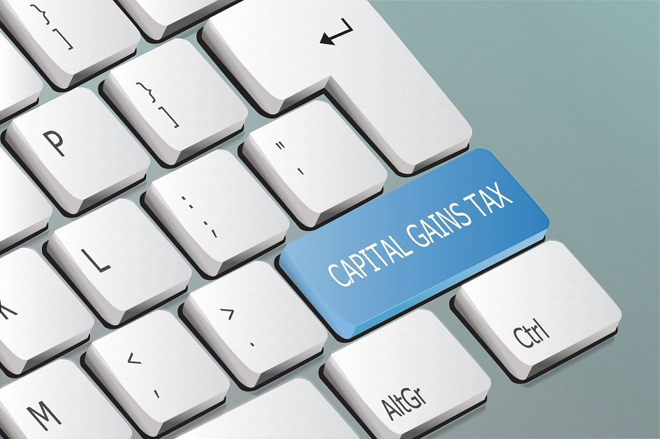 Capital Gains Tax wording on a computer keyboard key