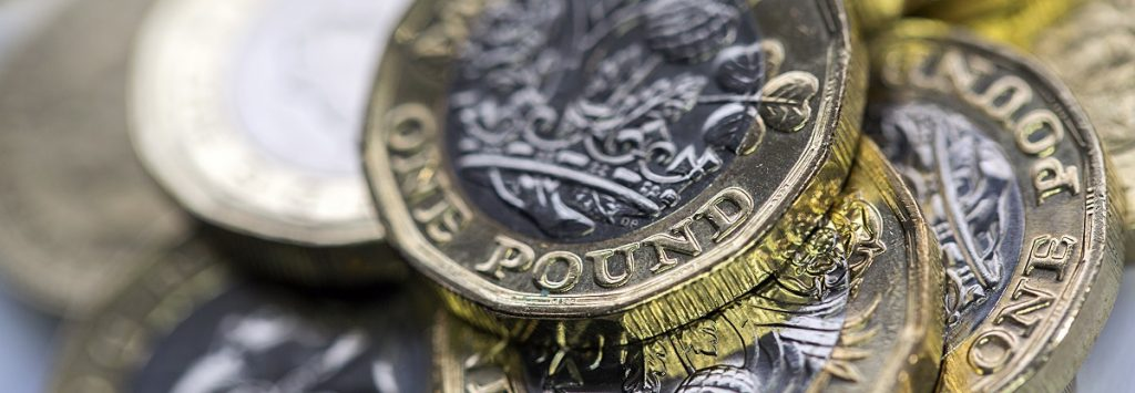Pound Coins Close-Up